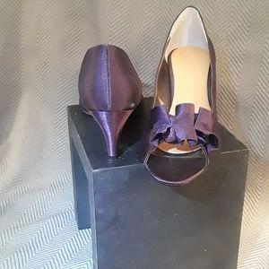 Women's Purple Silk Pumps